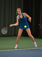 Rotterdam, The Netherlands, 07.03.2014. NOJK ,National Indoor Juniors Championships of 2014, 12and 16 years, Nina Kruijer (NED)<br /> Photo:Tennisimages/Henk Koster