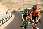 The breakaway group in action during Stage 4 of the 2018 Tour of Oman running 117.5km from Yiti (Al Sifah) to Ministry of Tourism. 16th February 2018.<br /> Picture: ASO/Muscat Municipality/Kare Dehlie Thorstad | Cyclefile<br /> <br /> <br /> All photos usage must carry mandatory copyright credit (&copy; Cyclefile | ASO/Muscat Municipality/Kare Dehlie Thorstad)
