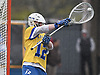 Jack Concannon #12, Hofstra University goalie, makes a save during the fourth quarter of an NCAA Division I men's lacrosse game against UMass at Shuart Stadium in Hempstead on Saturday, April 22, 2017. He made 13 saves in Hofstra's 15-8 win.
