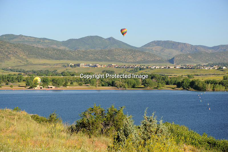 Hot Air Ballooning in the Rocky Mountains, Colorado, USA