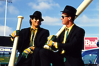 Baseball: Oakland Athletics Jose Canseco and Mark McGwire. Oakland, CA 7/25/1987 MANDATORY CREDIT: Brad Mangin/Sports Illustrated