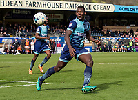 Aaron Pierre of Wycombe Wanderers during the Sky Bet League 2 match between Wycombe Wanderers and Mansfield Town at Adams Park, High Wycombe, England on the 14th April 2017. Photo by Liam McAvoy.
