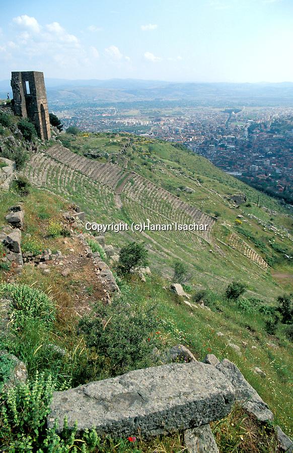 Turkey, Bergama. The Acropolis