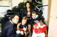 LIONEL D.  en bas à gauche<br /> avec  DEE NASTY,<br /> 1990/10<br /> <br /> <br /> Credit : Siaud -DALLE - AQP