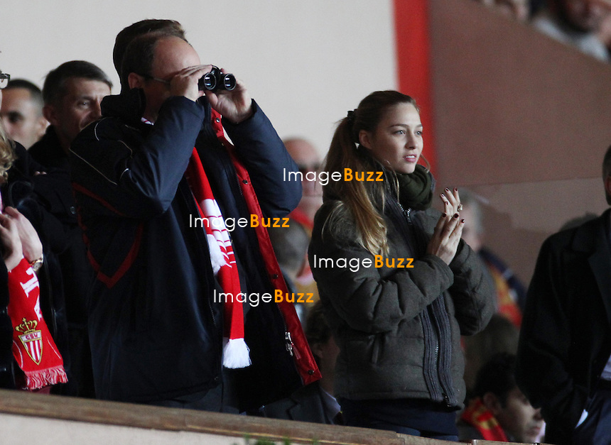 December 20, 2013 - Monaco (MCO) - H. S. H. Prince Albert II of Monaco, Pierre Casiraghi and Beatrice Borromeo attend the French Ligue 1 football match between Monaco and Valenciennes at Louis II Stadium