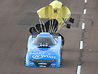 Feb 25, 2017; Chandler, AZ, USA; NHRA funny car driver Tommy Johnson Jr during qualifying for the Arizona Nationals at Wild Horse Pass Motorsports Park. Mandatory Credit: Mark J. Rebilas-USA TODAY Sports