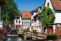 Deutschland, Rheinland-Pfalz, Suedliche Weinstrasse, Annweiler am Trifels: historischer Stadtkern mit Gerberviertel | Germany, Rhineland-Palatinate, Southern Wine Route, Annweiler am Trifels: historic centre with tanner quarter
