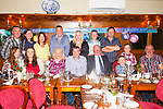 Celebrating his 40th birthday was Brendan Carmody from Tarbert, pictured here with family and friends last Friday night in Leen's Hotel, Abbeyfeale.