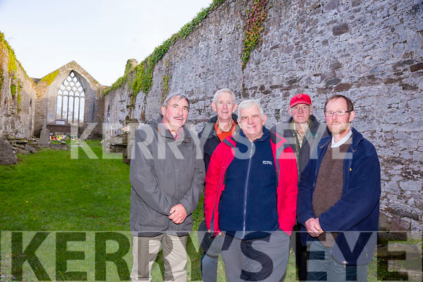 Killeagh Abbey restoration Group project Milltown Pictured  Pat McKenna, Donie McCarthy, James Cronin, Michael O'Sullivan and Billy Spring.