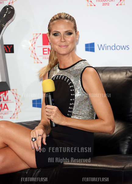 Heidi Klum at MTV EMA's 2012 - photocall held at Frankfurt City Hall.Frankfurt, Germany. 10/11/2012 Picture by: Henry Harris / Featureflash