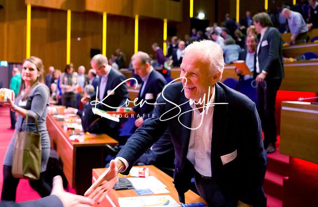 UTRECHT - KNHB voorzitter Jan Albers tijdens  Hockeycongres bij de Rabobank in Utrecht. FOTO KOEN SUYK