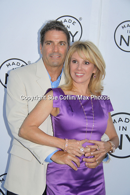 """Ramona Singer (Real Housewives of New York City) and Mario attend the 6th Annual """"Made in NY"""" Awards hosted by 2011 Mayor Michael Bloomberg and Commissioner Katherine Oliver on June 6, 2011 at Gracie Mansion, New York City, New York. (Photo by Sue Coflin/Max Photos)"""