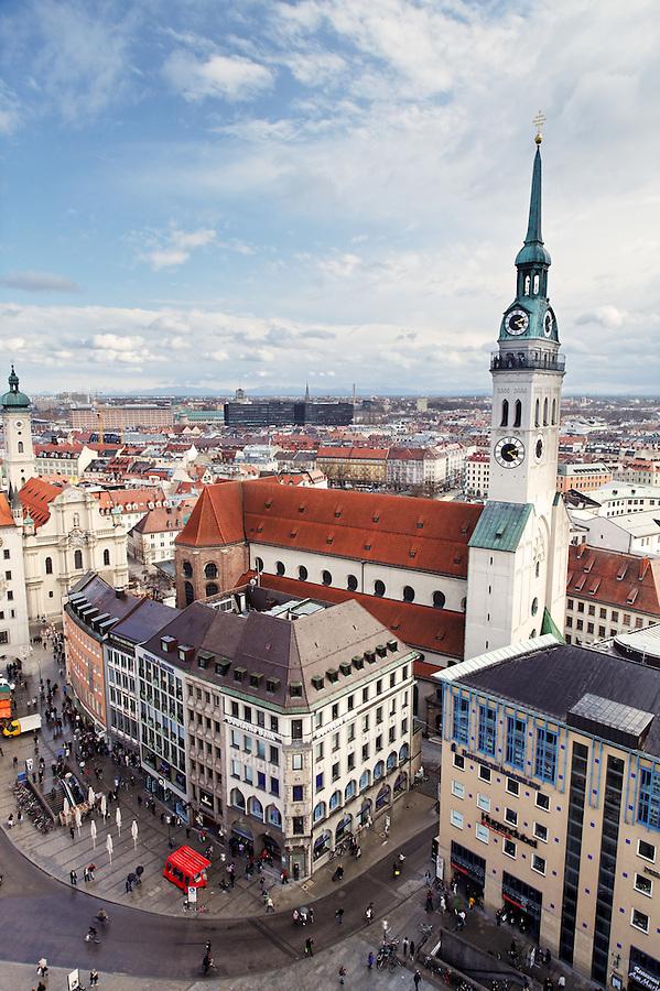 St. Peter's Church in Old Town Munich, Peterskirche, München, Bavaria, Germany, Deutschland, Europe