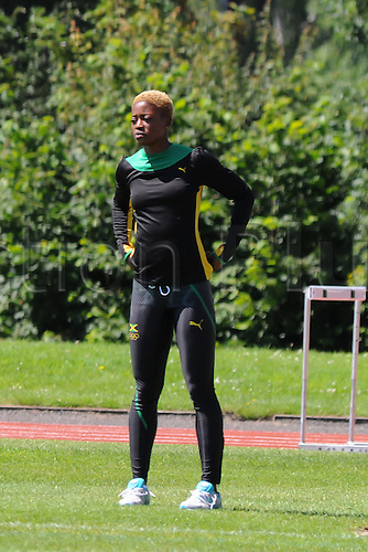 07.24.2012. Birmingham, England. Team Jamaica training session held at University of Birmingham