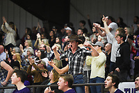Elkins students cheer, Friday, February 14, 2020 during a basketball game at Elkins High School in Elkins. Check out nwaonline.com/prepbball/ for today's photo gallery.<br /> (NWA Democrat-Gazette/Charlie Kaijo)