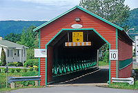 Pont Galipeault - covered bridge - crossing the Rivière de la Grande-Vallée<br /> Grande-Vallée<br /> Quebec<br /> Canada
