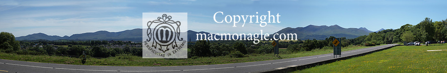 The panorama view looking South over Killarney from Madame's Hill picnic park.<br /> Photo Don MacMonagle
