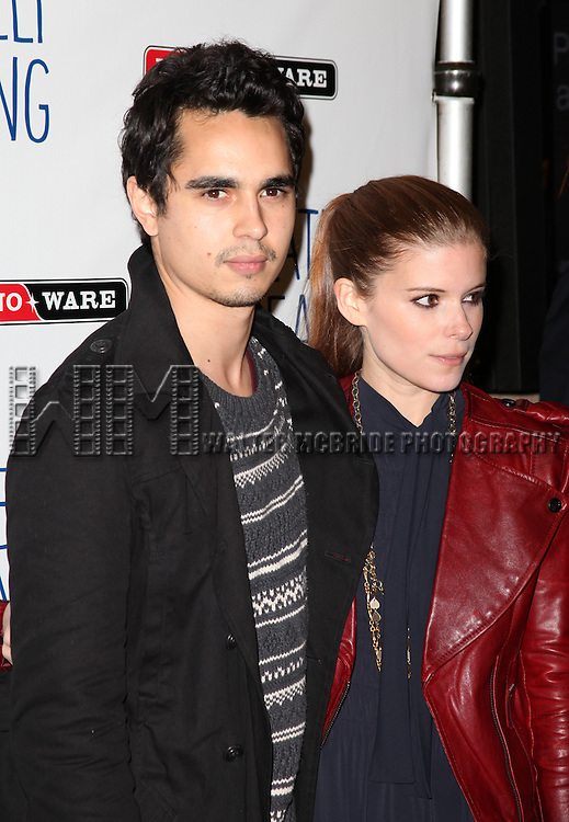 "Max Minghella and Kate Mara .attending the Opening Night Performance of 'Relatively Speaking""- Three One Act Comedies by Ethan Cohen, Elaine May & Woody Allen at the Brooks Atkinson Theatre in New York City."