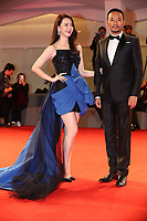 Qi Wei and Zhang Hanyu walk the red carpet ahead of the 'Manhunt (Zhuibu)' screening during the 74th Venice Film Festival at Sala Darsena on September 8, 2017 in Venice, Italy. <br /> CAP/GOL<br /> &copy;GOL/Capital Pictures