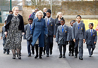 06 February 2019 - Camilla Duchess of Cornwall walks with pupils during a visit to St John's Angell Town Church of England Primary School  in London. Photo Credit: ALPR/AdMedia