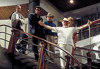 Jurassic Park (1993)<br /> Martin Ferrero as Gennaro, Jeff Goldblum as Dr. Ian Malcolm, Sam Neill as Dr. Alan Grant, Richard Attenborough as John Hammond and Laura Dern as Dr. Ellie Sattler<br /> *Filmstill - Editorial Use Only*<br /> CAP/KFS<br /> Image supplied by Capital Pictures