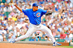 3 July 2005: Carlos Zambrano, pitcher for the Chicago Cubs, on the mound against the Washington Nationals. The Nationals defeated the Cubs 5-4 in 12 innings to sweep the 3-game series at Wrigley Field in Chicago, IL. Mandatory Photo Credit: Ed Wolfstein