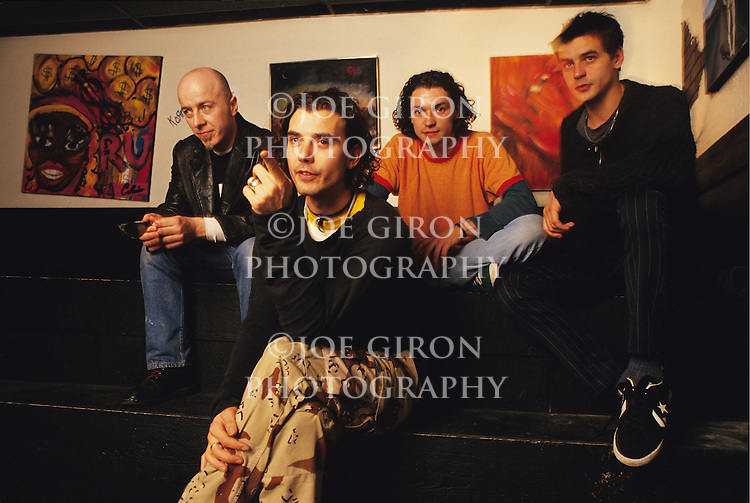 Various portrait sessions of the rock band, Bush.
