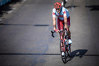 Nils Politt (GER/Katusha Alpecin) finishing after a very warm stage day. <br /> <br /> Stage 16: Nimes to Nimes (177km)<br /> 106th Tour de France 2019 (2.UWT)<br /> <br /> ©kramon