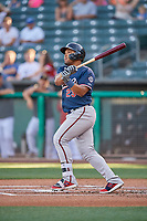 Yasmany Tomas (23) of the Reno Aces bats against the Salt Lake Bees at Smith's Ballpark on June 26, 2019 in Salt Lake City, Utah. The Aces defeated the Bees 6-4. (Stephen Smith/Four Seam Images)