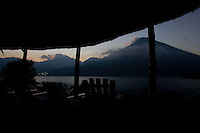 Scenic of Lake Atitlán from a patio of Posada de Santiago in Guatemala on Tuesday, March 20, 2007.