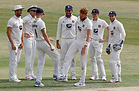 Kent players celebrate taking the wicket of Feroze Khushi during Essex CCC vs Kent CCC, Bob Willis Trophy Cricket at The Cloudfm County Ground on 4th August 2020