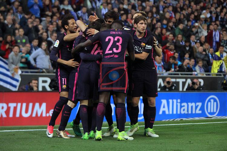 League Santander 2016/2017. Game: 35.<br /> RCD Espanyol vs FC Barcelona: 0-3.