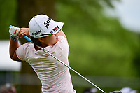 Nasa Hataoka (JPN) watches her tee shot on 18 during Thursday's round 1 of the 2017 KPMG Women's PGA Championship, at Olympia Fields Country Club, Olympia Fields, Illinois. 6/29/2017.<br /> Picture: Golffile | Ken Murray<br /> <br /> <br /> All photo usage must carry mandatory copyright credit (&copy; Golffile | Ken Murray)