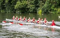 Henley Royal Regatta, Henley on Thames, Oxfordshire, 28 June - 2 July 2017.  Friday  11:21:21   30/06/2017  [Mandatory Credit/Intersport Images]<br /> <br /> Rowing, Henley Reach, Henley Royal Regatta.<br /> <br /> The Remenham Challenge Cup<br />  Ohio State University, U.S.A.
