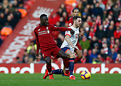 9th February 2019, Anfield, Liverpool, England; EPL Premier League football, Liverpool versus AFC Bournemouth; Naby Keita of Liverpool tussles with Dan Gosling of Bournemouth in midfield