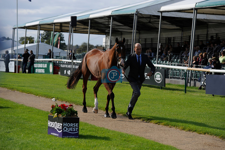 Stamford, Lincolnshire, United Kingdom, 4th September 2019, Tim Price (NZL) & Ringwood Sky Boy during the 1st Horse Inspection of the 2019 Land Rover Burghley Horse Trials, Credit: Jonathan Clarke/JPC Images