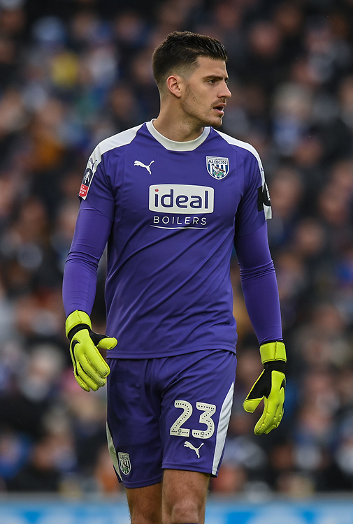 West Bromwich Albion's Jonathan Bond <br /> <br /> Photographer David Horton/CameraSport<br /> <br /> Emirates FA Cup Fourth Round - Brighton and Hove Albion v West Bromwich Albion - Saturday 26th January 2019 - The Amex Stadium - Brighton<br />  <br /> World Copyright © 2019 CameraSport. All rights reserved. 43 Linden Ave. Countesthorpe. Leicester. England. LE8 5PG - Tel: +44 (0) 116 277 4147 - admin@camerasport.com - www.camerasport.com