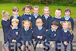 Gneeveguilla NS junior infants on Monday front row l-r: Gavin Barry, Laura Hickey, Leah Murphy, Jonathon Dela Torra, Shannon O'Sullivan. Back row: Kathlyn O'Leary, Tara Jones, Jenifer Dineen, Treasa Cremin, Padraig O'Brien and Sarah O'Neill..