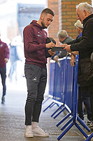 Matt Grimes of Swansea City signs autographs for fans prior to the Sky Bet Championship match between Sheffield Wednesday and Swansea City at Hillsborough Stadium, Sheffield, England, UK. Saturday 23 February 2019