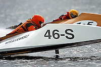 Father Eric VanOver, 46-S and son Austin VanOver, 1-F   (Outboard Runabout)