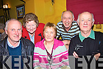 Meeting up at the ceile in The Gables restaurant Athea on Friday night, were Eamon Madigan, Margaret O' Regan, Con Egan,  at the back Mary Egan and Co O'Regan..