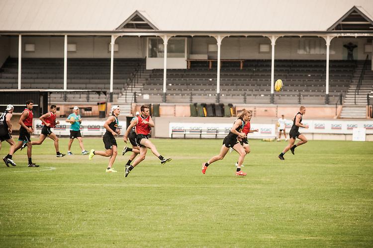 Heat training , Port Power at Alberton Oval. Photo: Nick Clayton