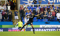 Chris Gunter of Reading battles Andre Green of Aston Villa during the Sky Bet Championship match between Reading and Aston Villa at the Madejski Stadium, Reading, England on 15 August 2017. Photo by Andy Rowland / PRiME Media Images.