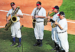 5 March 2010: Atlanta Braves Philharmonic Saxophone Quartet entertain the fans during a Spring Training game against the Washington Nationals at Champion Stadium in the ESPN Wide World of Sports Complex in Orlando, Florida. The Braves defeated the Nationals 11-8 in Grapefruit League action. Mandatory Credit: Ed Wolfstein Photo