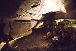 Cueva de Los Verdes, cave tourist attraction in lava pipe tunnel, Lanzarote, Canary Islands, Spain