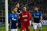 19.12.2017, Veltins-Arena , Gelsenkirchen, GER, DFB Pokal Achtelfinale, FC Schalke 04 vs 1. FC K&ouml;ln<br /> , <br /> <br /> im Bild | pictures shows:<br /> vl. Max Meyer (FC Schalke 04 #7), Ralf Faehrmann (FC Schalke 04 #1), Lukas Kluenter (1.FC Koeln #24) und Daniel Caligiuri (FC Schalke 04 #18), <br /> <br /> Foto &copy; nordphoto / Rauch