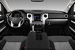 Stock photo of straight dashboard view of 2016 Toyota Tundra SR-Crew 4 Door Pickup Dashboard
