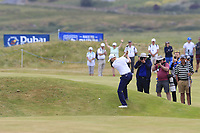 Russell Knox (SCO) plays his 2nd shot on the playoff hole 18 during Sunday's Final Round of the 2018 Dubai Duty Free Irish Open, held at Ballyliffin Golf Club, Ireland. 8th July 2018.<br /> Picture: Eoin Clarke | Golffile<br /> <br /> <br /> All photos usage must carry mandatory copyright credit (&copy; Golffile | Eoin Clarke)