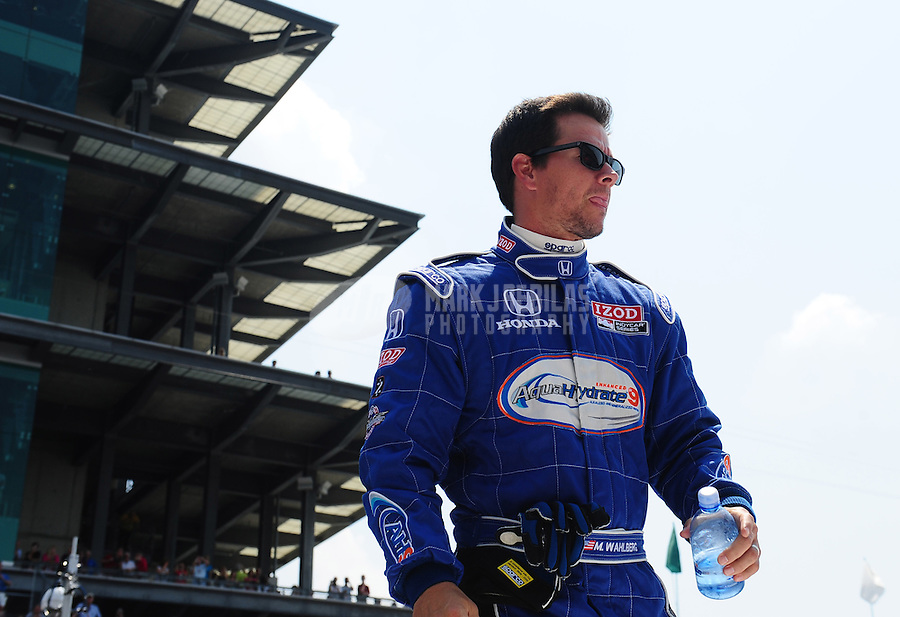 May 30, 2010; Indianapolis, IN, USA; Movie actor Mark Wahlberg during the Indianapolis 500 at the Indianapolis Motor Speedway. Mandatory Credit: Mark J. Rebilas-