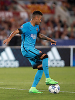 Calcio, Champions League, Gruppo E: Roma vs Barcellona. Roma, stadio Olimpico, 16 settembre 2015.<br /> FC Barcelona&rsquo;s Neymar in action during a Champions League, Group E football match between Roma and FC Barcelona, at Rome's Olympic stadium, 16 September 2015.<br /> UPDATE IMAGES PRESS/Isabella Bonotto<br /> <br /> *** ITALY AND GERMANY OUT ***